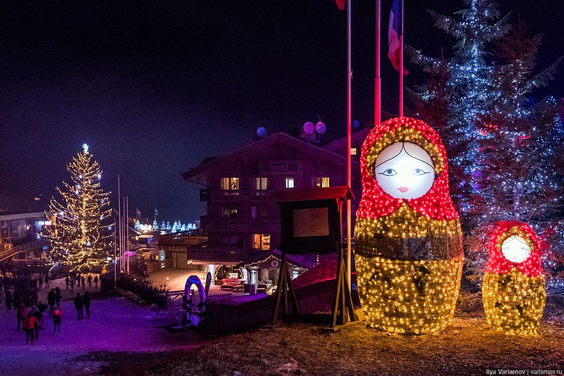 Русские отмечали Новый год в Куршевеле с размахом